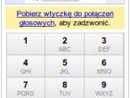 Okno wybierania numerów w Gmail
