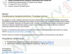 Wiadomość e-mail docierająca do użytkowników w ramach nowego ataku phishingowego