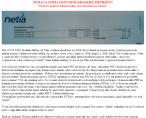 Zrzut ekranu z zablokowanej strony zervisa z opisem sprawy kont Netii