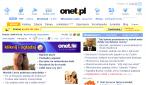 Strona główna Onet.pl w starej szacie