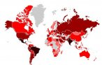 Botnet Mariposa - globalna mapa infekcji