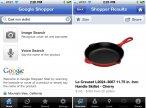 Okno programu Google Shopper na iPhone