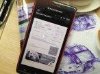 Smartfon z elektronicznym biletem PKP Intercity