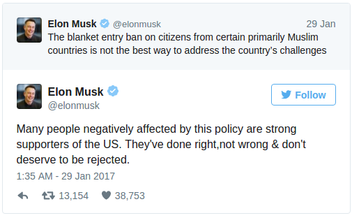 Elon Musk - tweet
