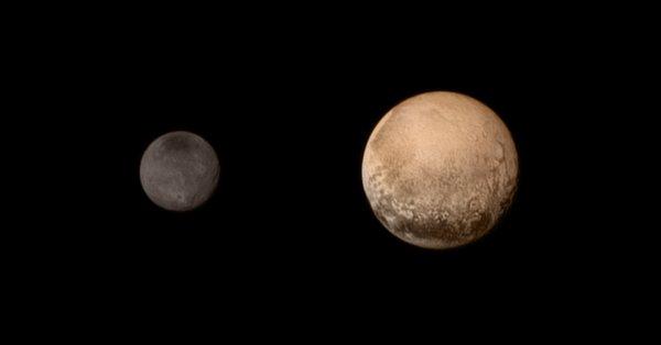 Pluton i Charon - zdjęcie NASA
