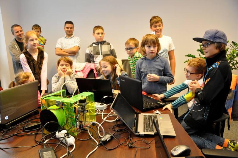 Pierwsze wydruki 3D na zajęciach CoderDojo w Białymstoku