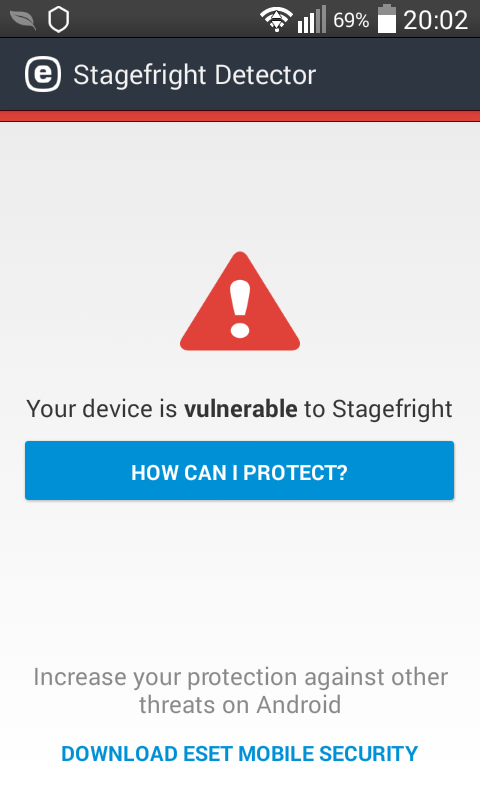 Stagefright Detector
