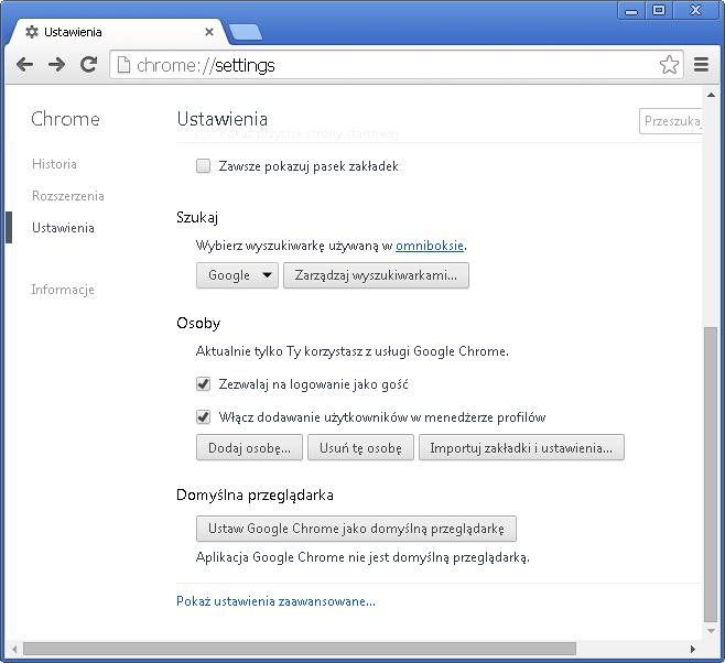 Jak włączyć funkcję Click-to-Play w Chrome - rys. 2