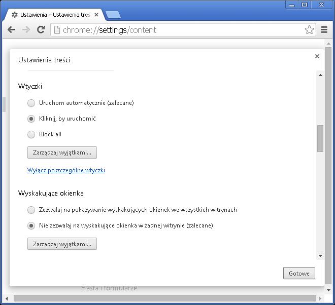 Jak włączyć funkcję Click-to-Play w Chrome - rys. 4