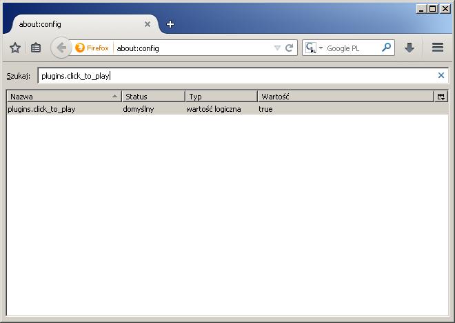 Jak włączyć funkcję Click-to-Play w Firefoksie - rys. 4