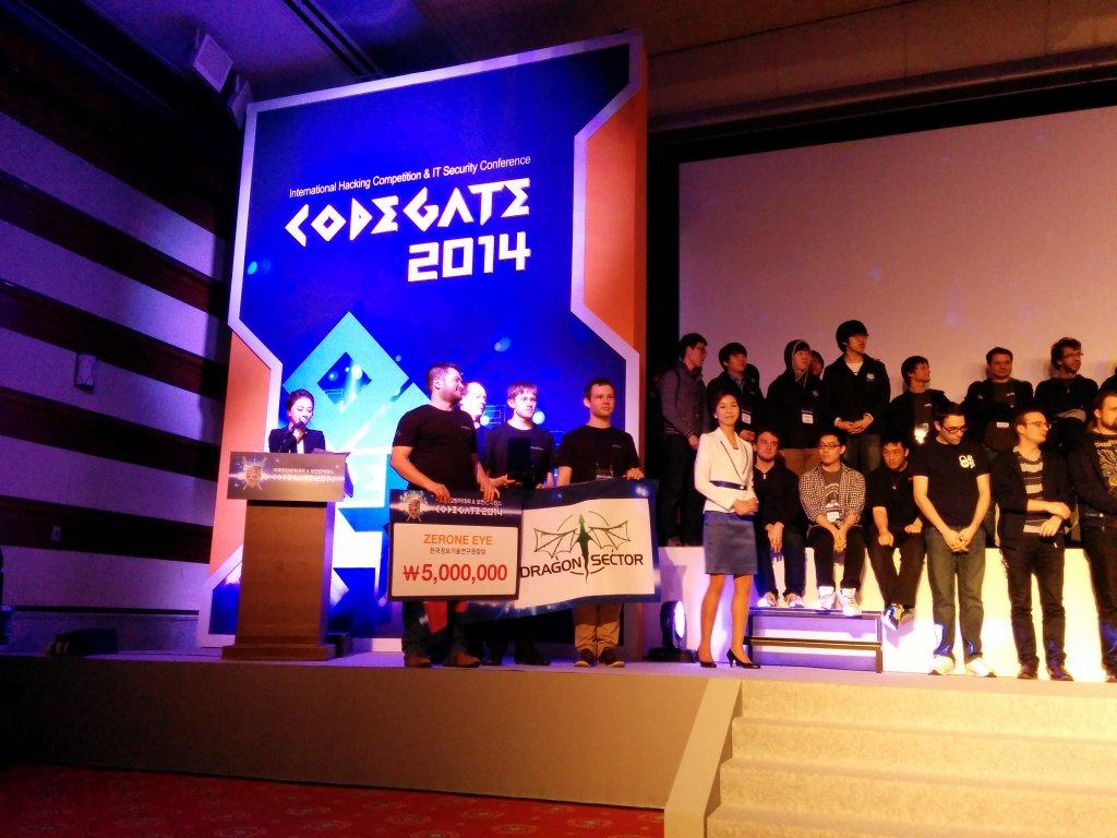Dragon Sector na zawodach Codegate 2014 w Seulu, fot. Katarzyna Zakrawacz-Święcki
