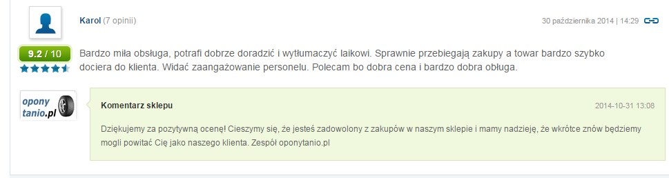 Komentarz - Opony
