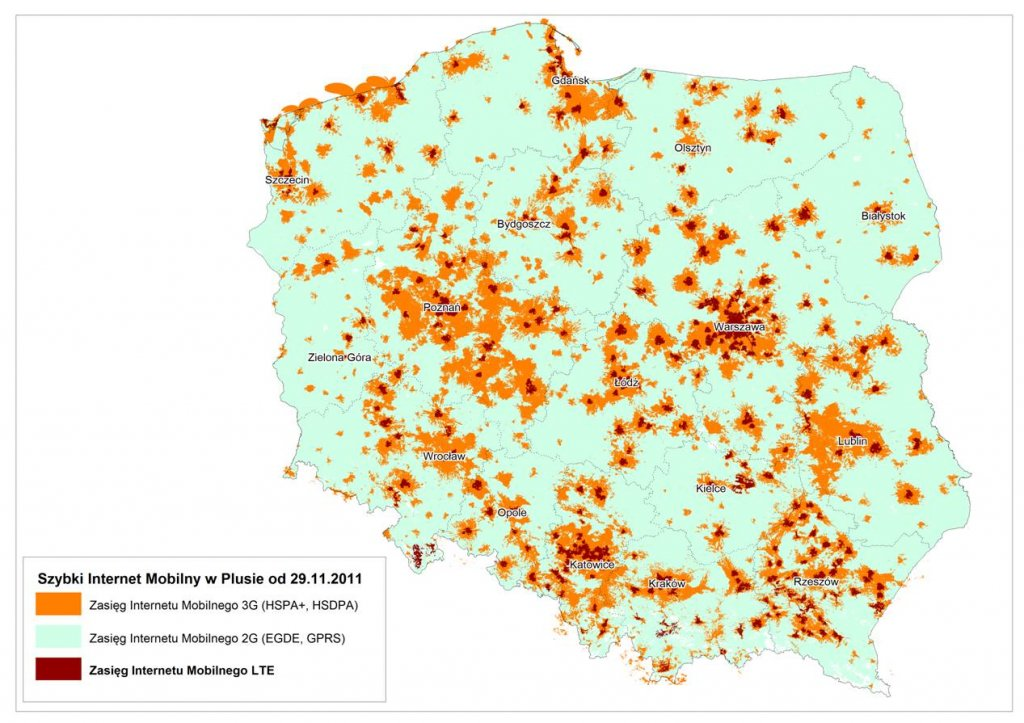 Mapa Zasiegu Lte W Plusie Galeria Dziennik Internautow