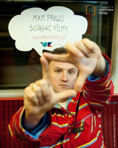 Artur Kurasiński w kampanii Prawo Kultury, fot. Donat Brykczyński, CC BY-SA 3.0