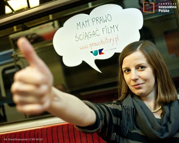 Magdalena Biernat w kampanii Prawo Kultury, fot. Donat Brykczyński, CC BY-SA 3.0