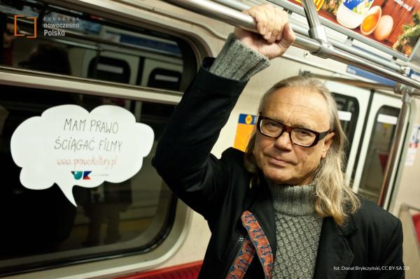 Kamil Sipowicz w kampanii Prawo Kultury, fot. Donat Brykczyński, CC BY-SA 3.0