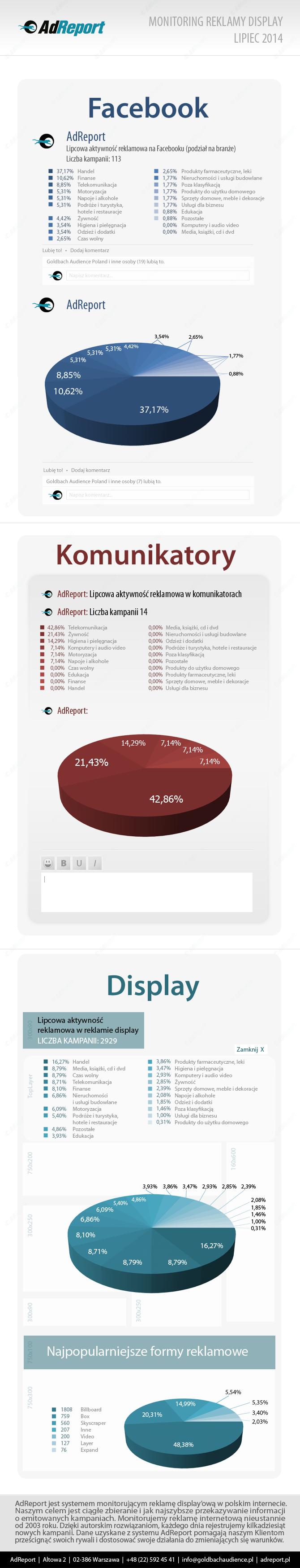 Rynek reklamy displayowej w lipcu 2014 - infografika