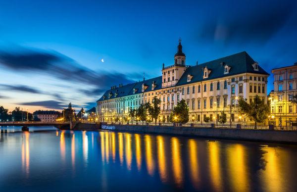 Wrocław, dawne kolegium jezuickie, ob. gmach główny Uniwersytetu Wrocławskiego