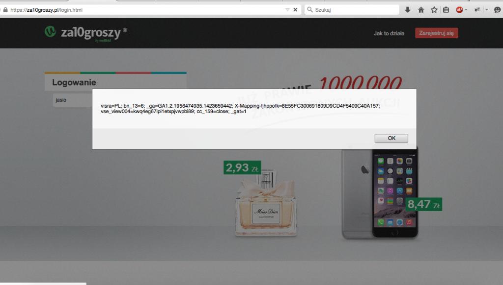 Luka w serwisie za10groszy.pl - 2