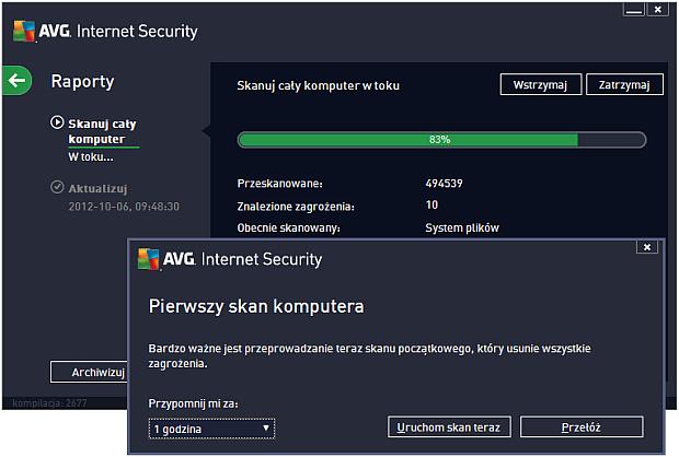 AVG Internet Security 2013 - skanowanie z niespodzianką