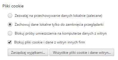 Zarządzanie ciasteczkami