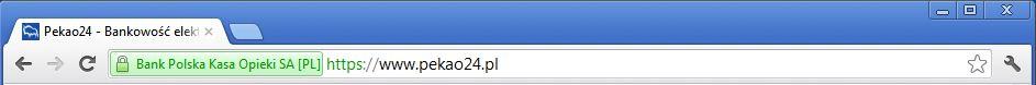 Pasek stanu w Chrome