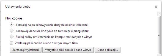 Zarządzanie ciasteczkami w Chrome - rys. 2
