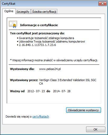 Sprawdzanie certyfikatu bezpieczeństwa w Chrome (rys. 2)