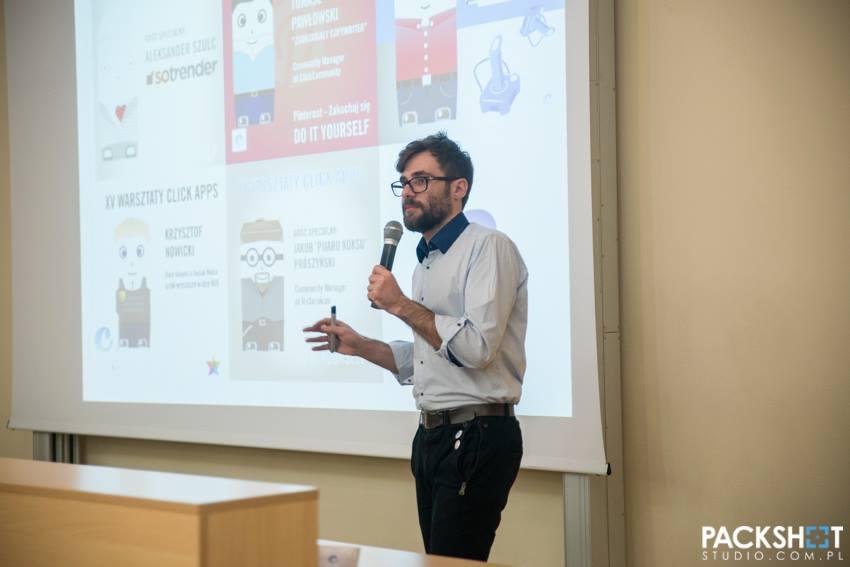 EastCamp Białystok, październik 2013 - Michał Blak, click apps: Aplikacje dla ludu. Fot. packshotstudio.com.pl