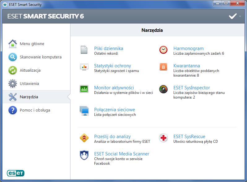 ESET Smart Security - narzędzia