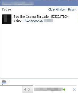 Fałszywa wiadomość na facebookowym czacie
