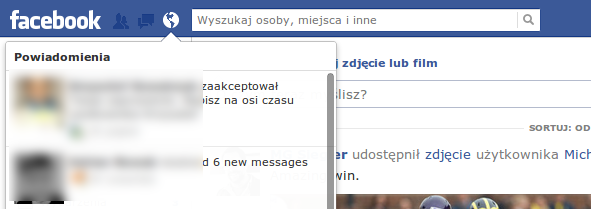 Facebook - powiadomienia