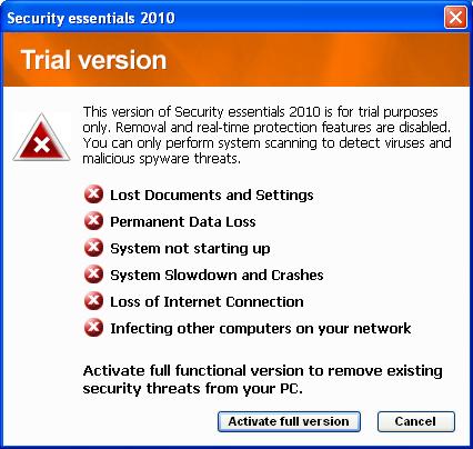 Fałszywy Microsoft Security Essentials