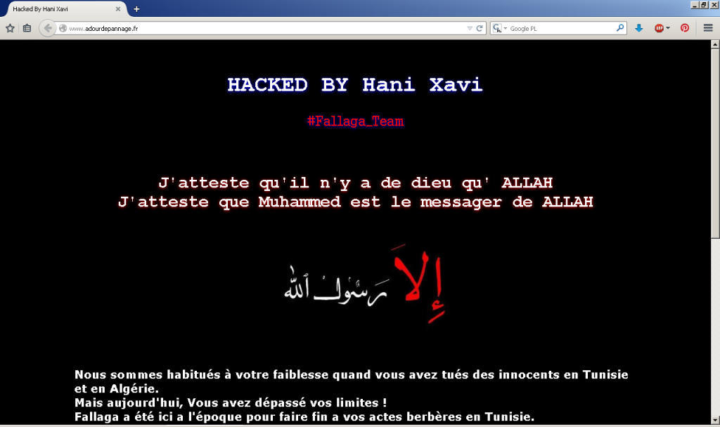 Strona zhackowana przez FallaGa Team