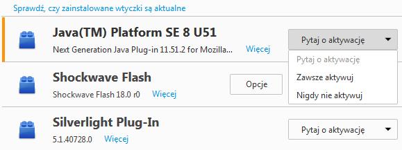 Firefox - włączanie funkcji click-to-play