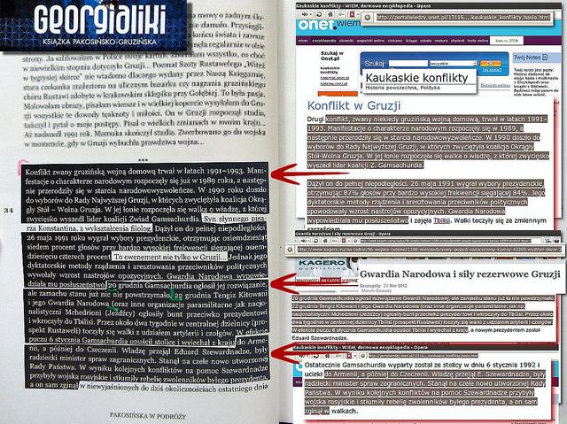 Georgialiki, str. 34 - informacje o wojnie domowej w Gruzji