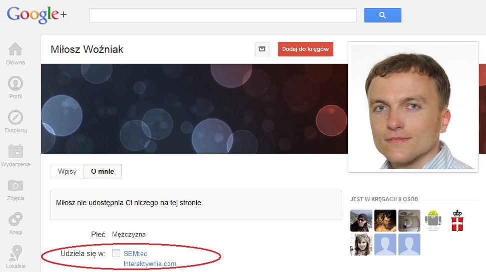 Integracja Google+ ze stroną WWW - rys. 2