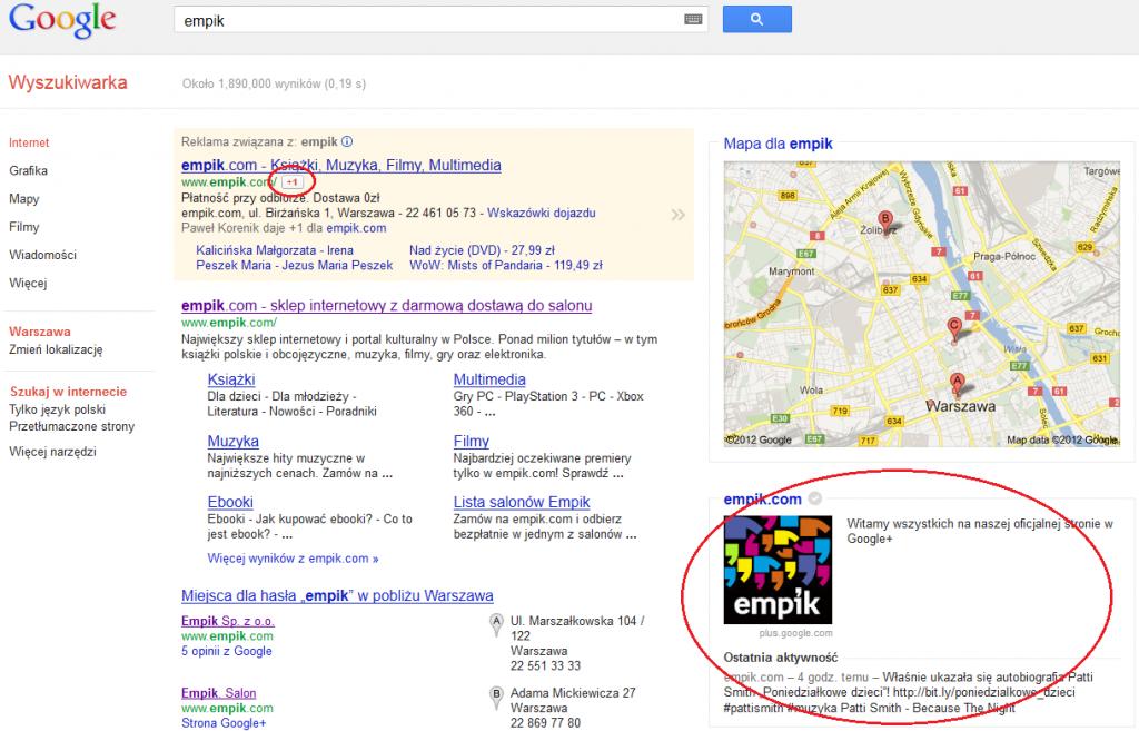 Integracja Google+ ze stroną WWW - rys. 7
