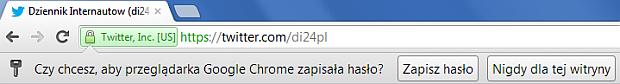 Zapamiętywanie hasła w Chrome