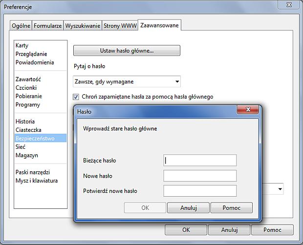 Zarządzanie hasłami w Operze - rys. 2