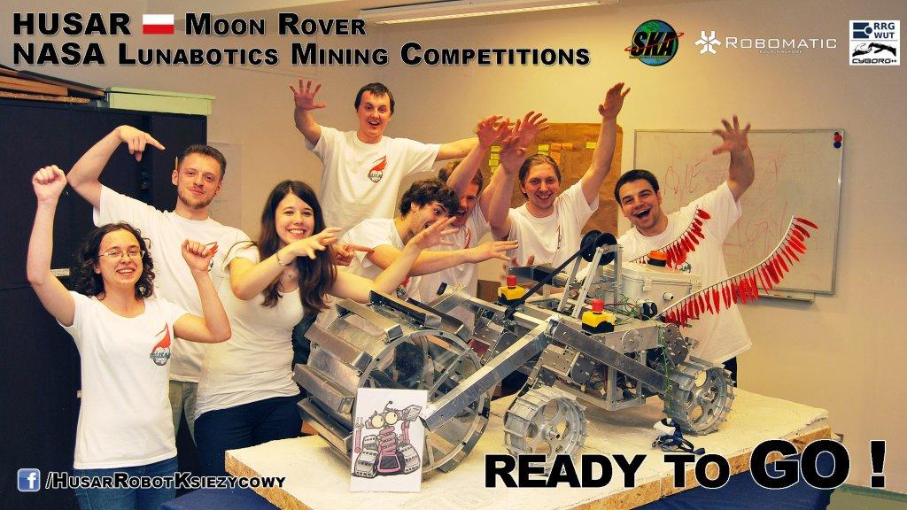 Husar - robot, którego studenci mieli zaprezentować na zawodach NASA Lunabotics Mining Competition