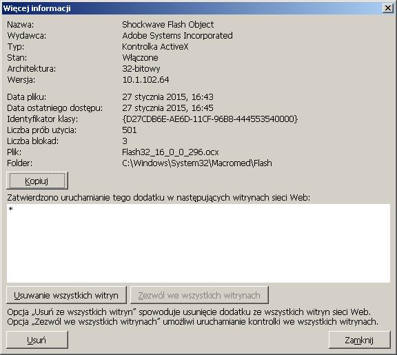 Zarządzanie dodatkami w IE - rys. 2