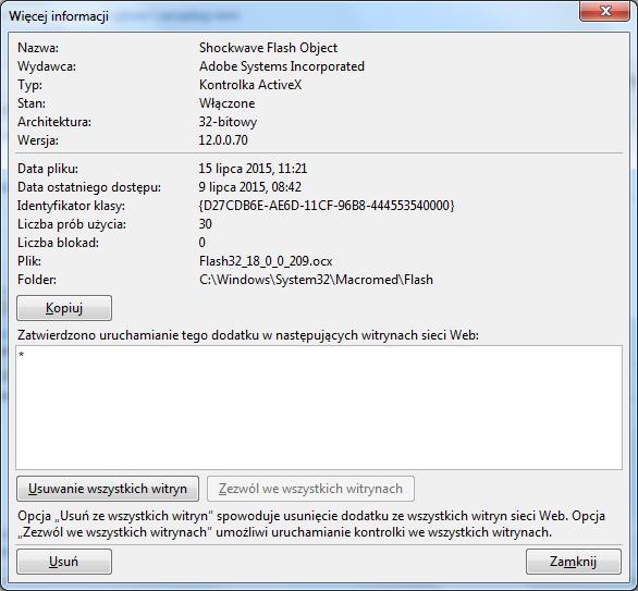 Włączanie funkcji click-to-play w Internet Explorerze - 3