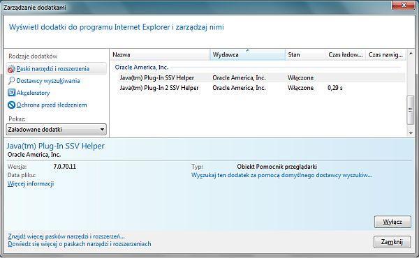 Jak wyłączyć Javę w Internet Explorerze (rys. 2)