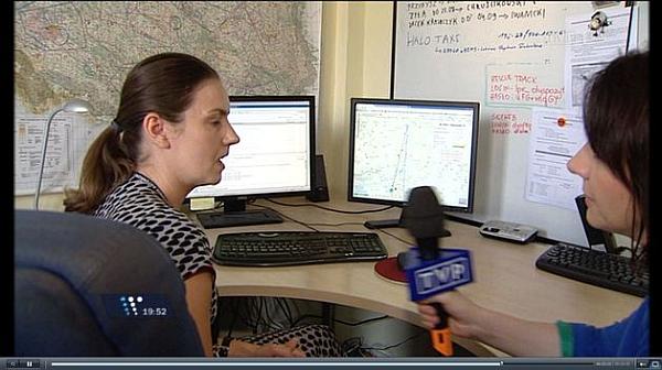 Kadr z materiału wyemitowanego w TVP