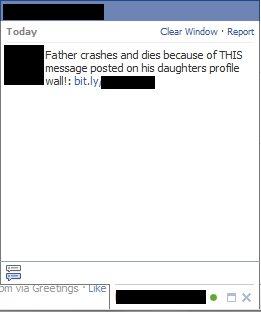 Atak przy użyciu facebookowego czata