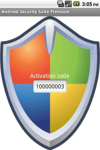 Kod wygenerowany przez aplikację Android Security Suite Premium