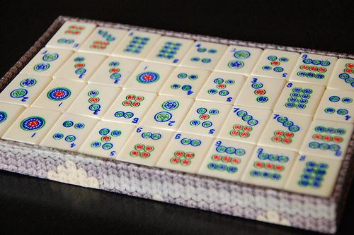Zestaw kamieni do prawdziwego mahjonga