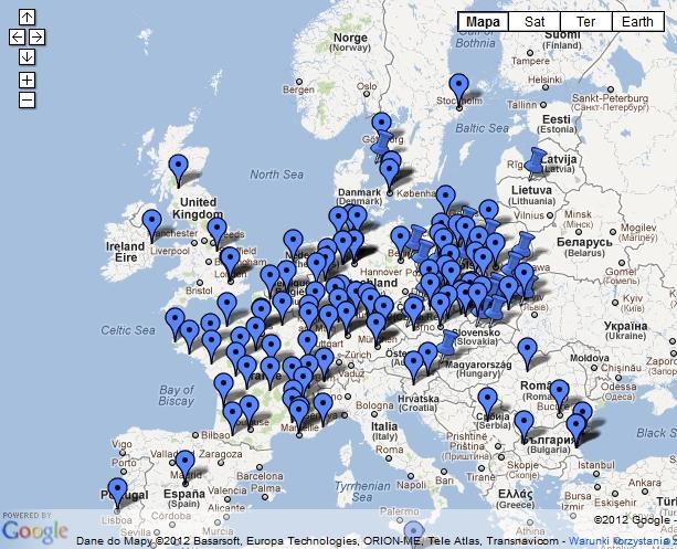 Europejska mapa protestów przeciw ACTA