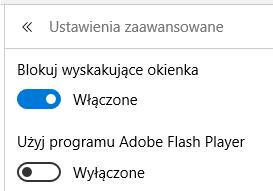 Microsoft Edge - opcje zaawansowane